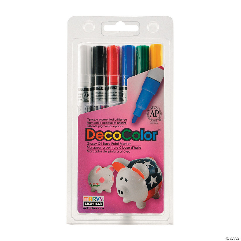 Marvy Uchida DecoColor Paint Markers Fine Set