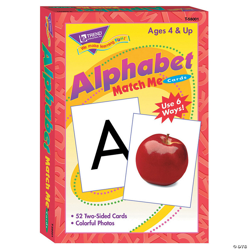 Match Me® Cards, Alphabet - 52 cards per pack, 6 packs