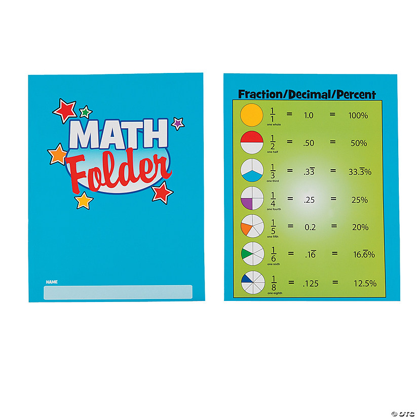 Math Folders - Discontinued