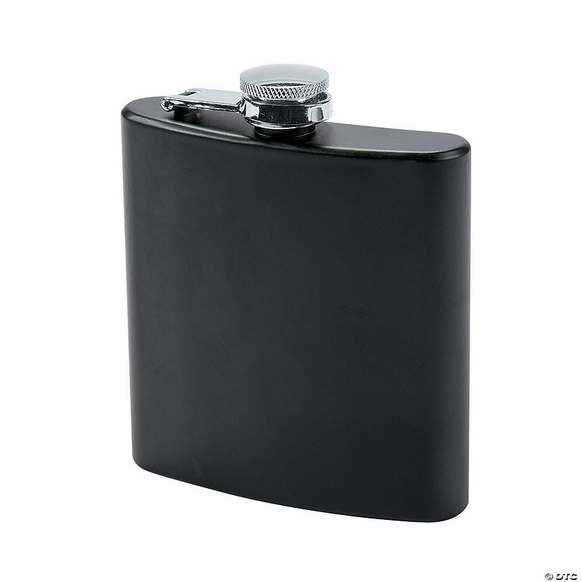 Matte Black Metal Flask