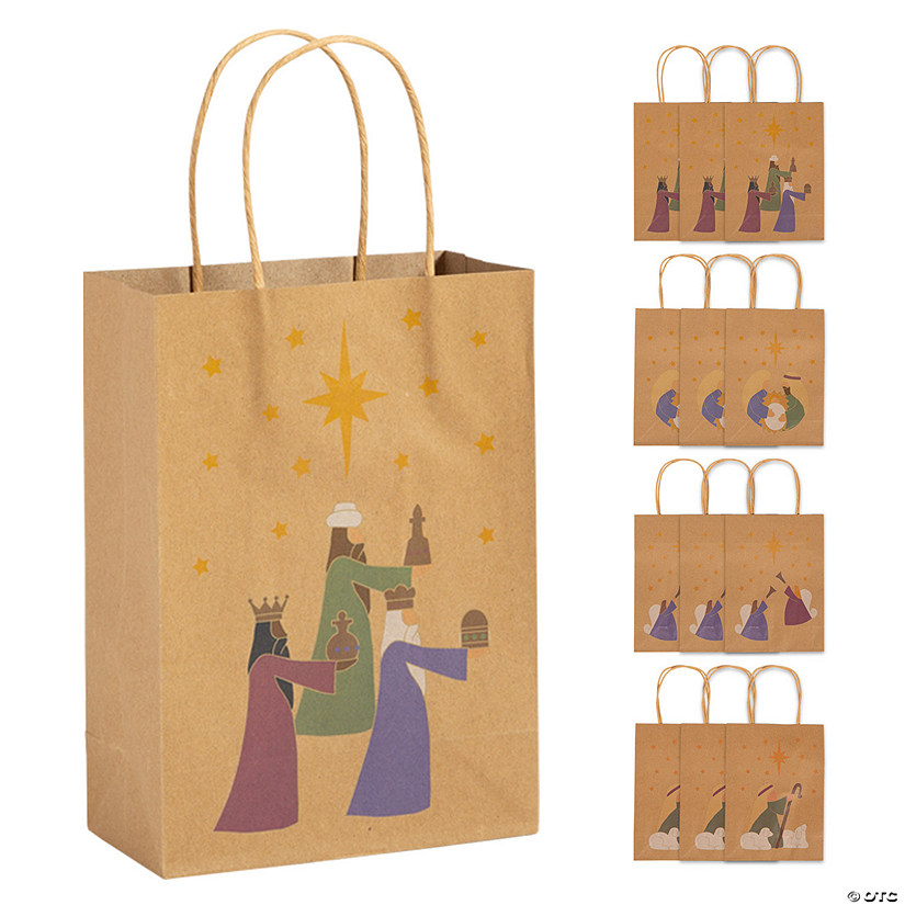 Medium Brown Nativity Gift Bags