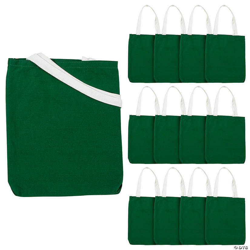 Medium Green Canvas Tote Bags