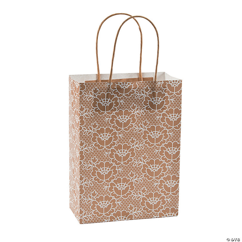Medium Lace Kraft Paper Gift Bags