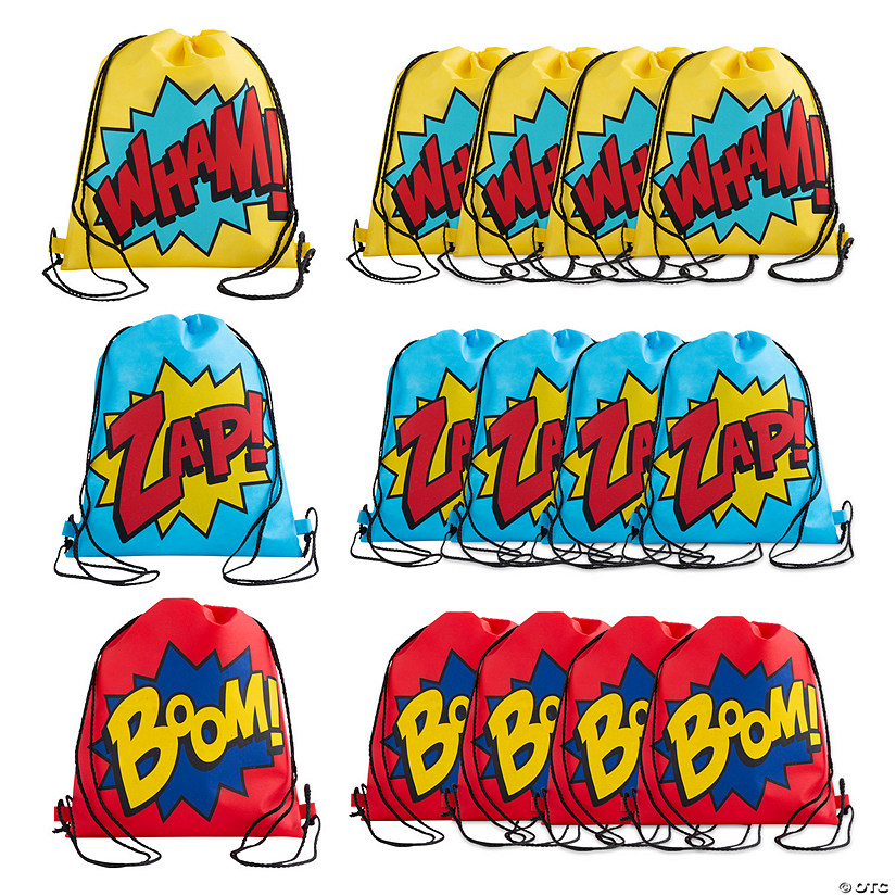Medium Superhero Drawstring Bags
