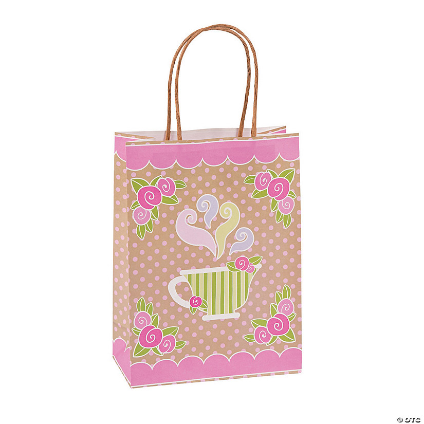 Medium Tea Party Kraft Paper Gift Bags