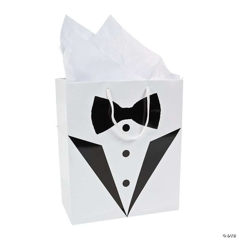 Medium Tuxedo Wedding Gift Bags