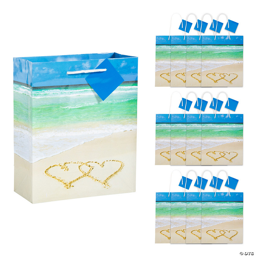 Medium Wedding Beach Gift Bags with Tags