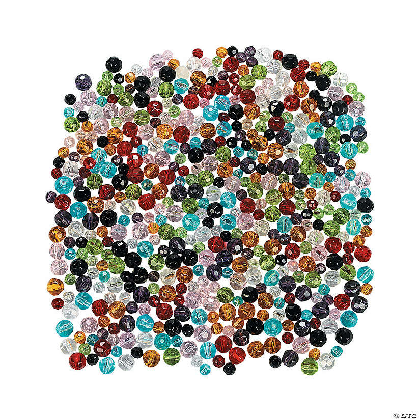 Mega Round Cut Glass Bead Assortment - 4mm-6mm