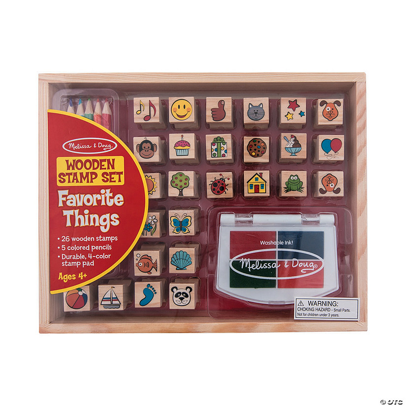 Melissa & Doug<sup>® </sup>Favorite Things Wooden Stamp Set
