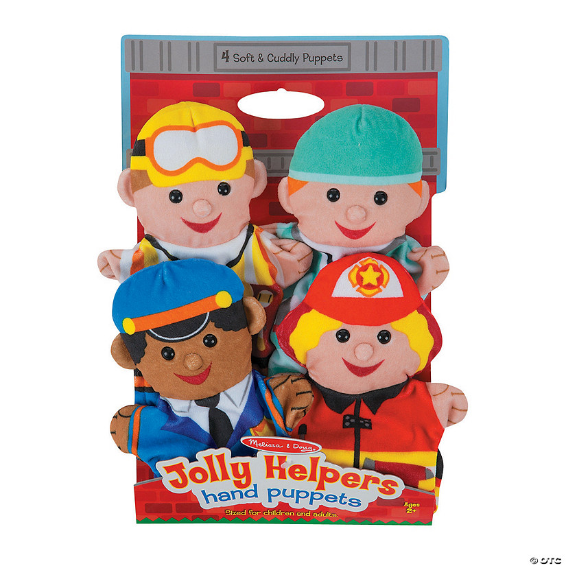 Melissa & Doug<sup>®</sup> Jolly Helpers Hand Puppets