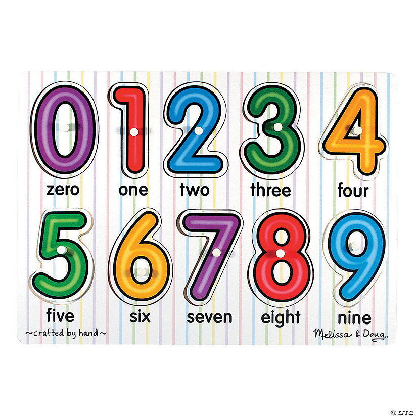 Melissa & Doug<sup>®</sup> See-Inside Numbers Peg Puzzle