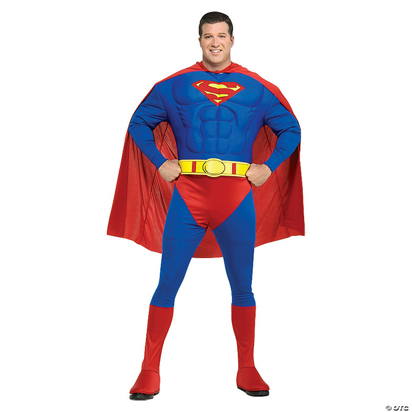 Men's Plus Size Deluxe Muscle Chest Superman™ Costume