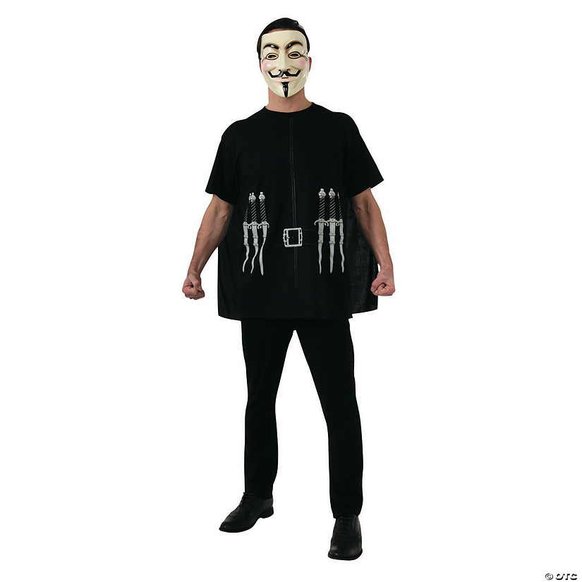 Men's Alternative V For Vendetta Guy Fawkes Costume