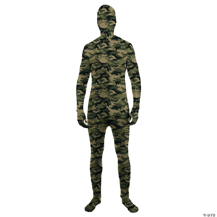 Men's Camo Skin Suit Costume
