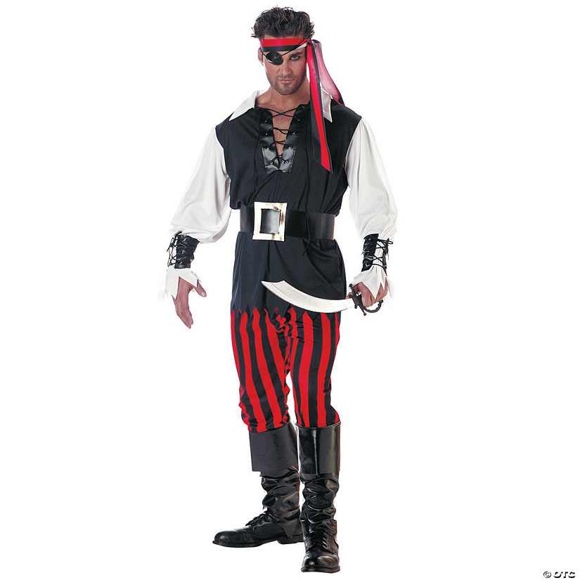 sc 1 st  Oriental Trading & Menu0027s Cut Throat Pirate Costume