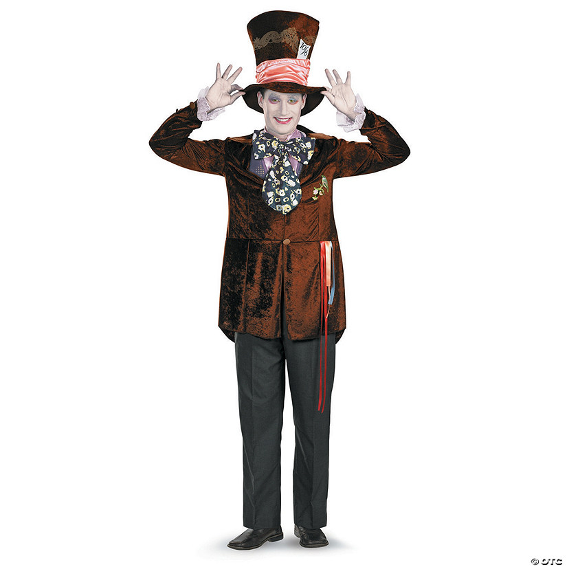 Men's Deluxe Alice in Wonderland Mad Hatter Costume