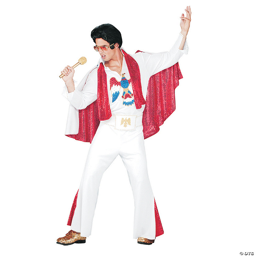 Men's Deluxe Jumpsuit Elvis Costume