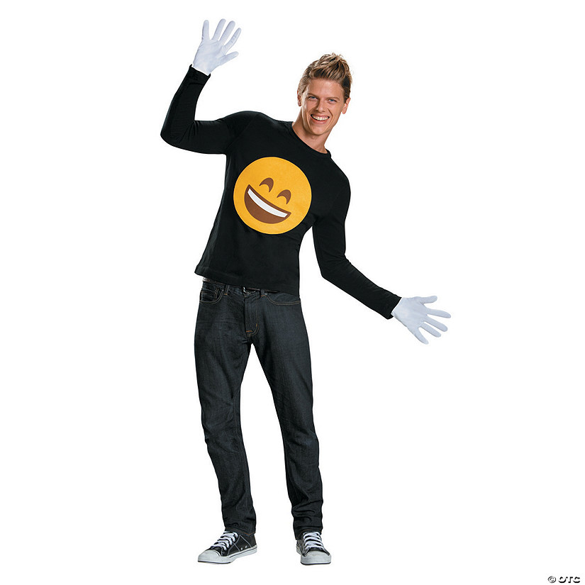 Men's Emoji Smile Costume Kit