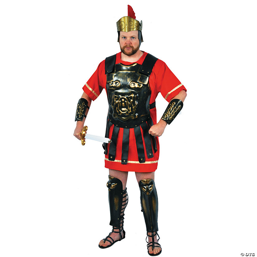 Men's Gold Wash Roman Armor Costume