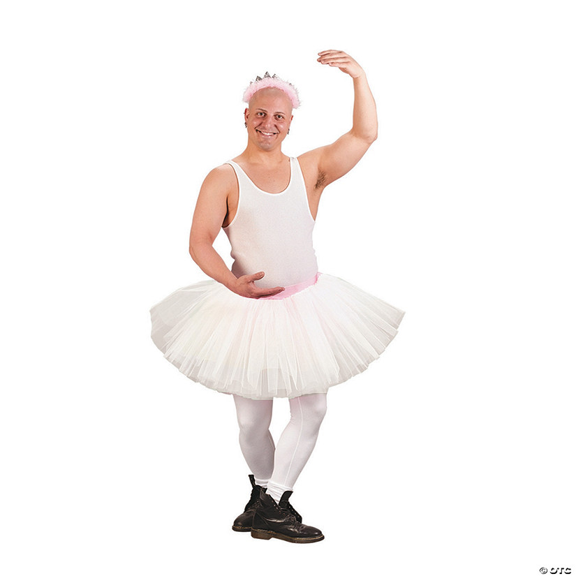 Men's Grande White Tutu Costume
