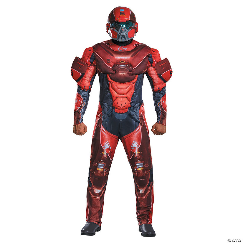 Men's Halo Red Spartan Costume
