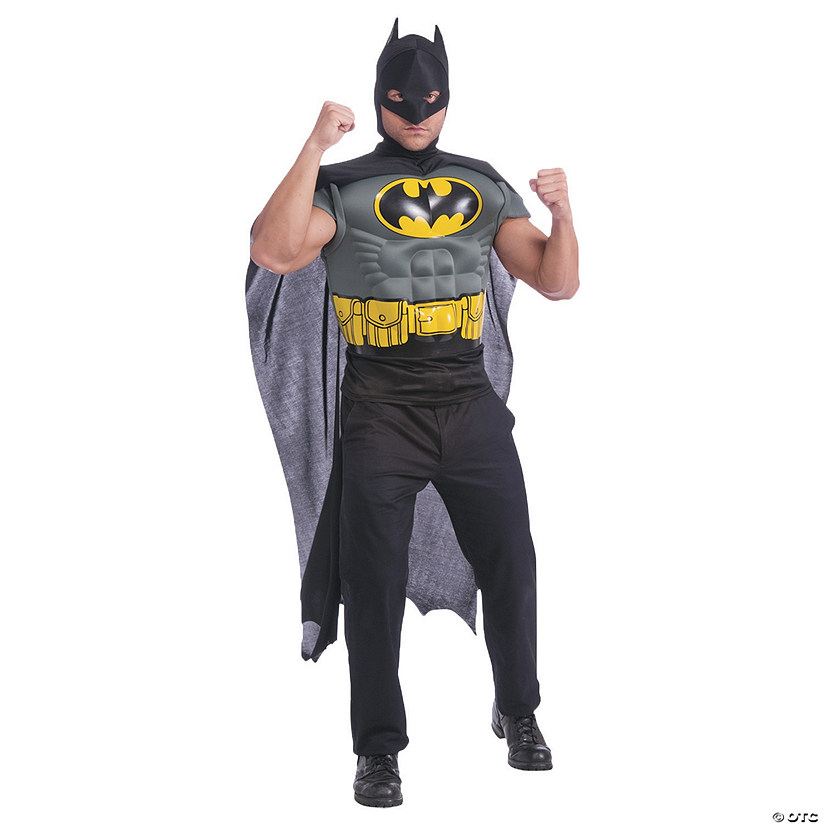 Men's Muscle Shirt Cape Batman Costume