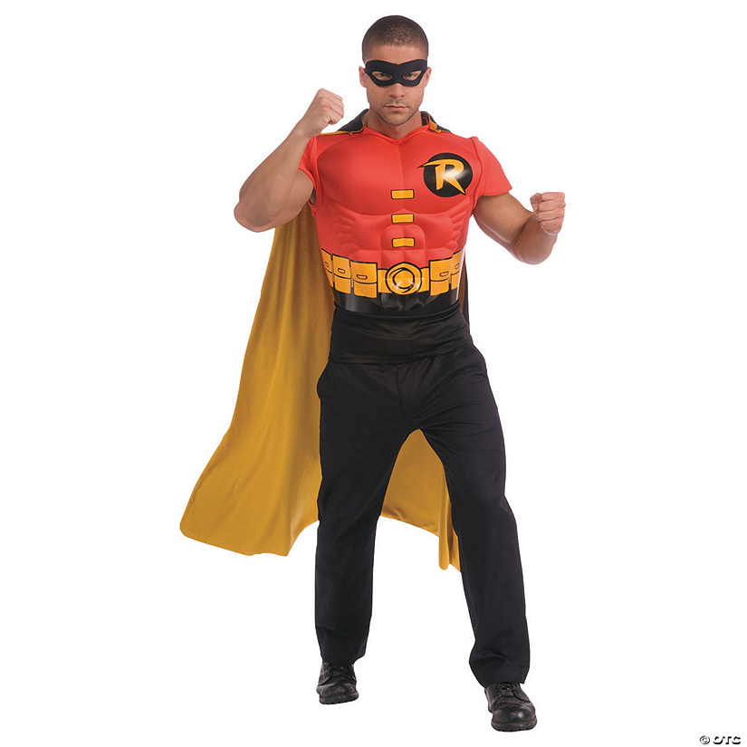 Men's Muscle Shirt Cape Robin Costume