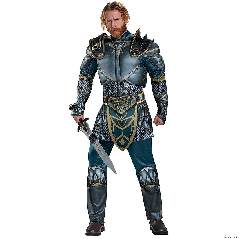 Men's Muscle World of Warcraft Lothar Costume