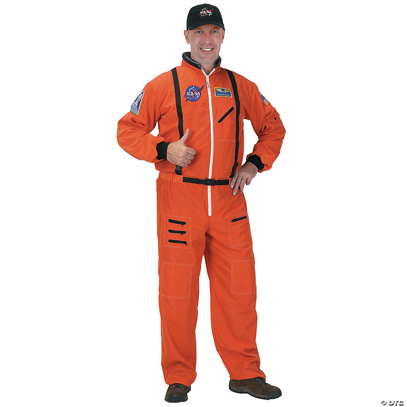 Men's Orange Suit Astronaut Costume