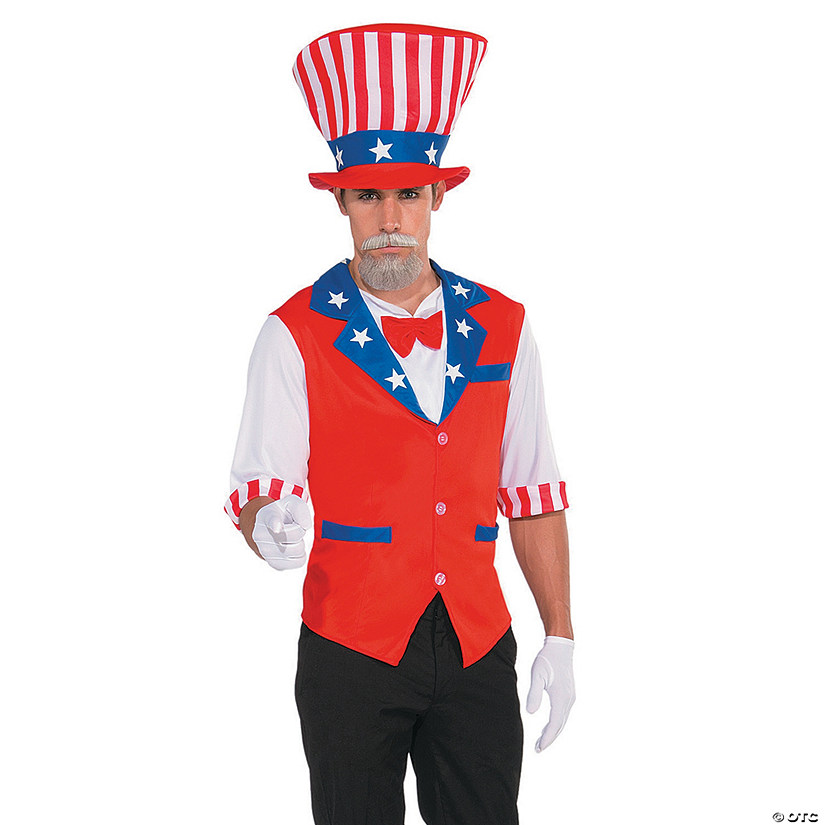 Men's Patriotic Hat and Shirt Costume