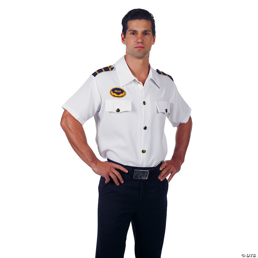 Men's Pilot Shirt Costume