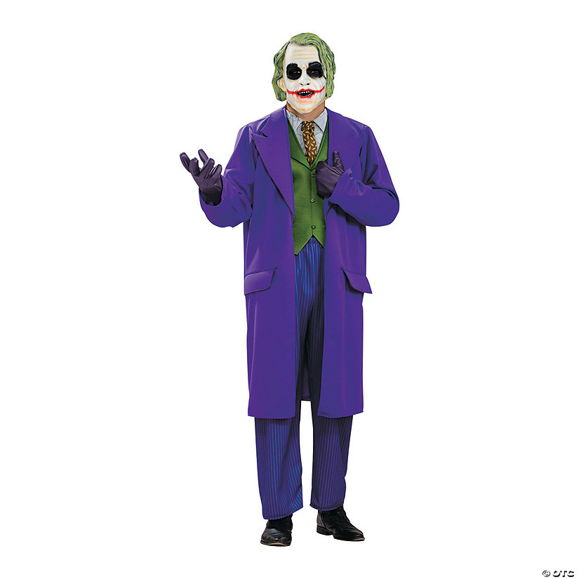 Men's Plus Size Deluxe Joker Costume