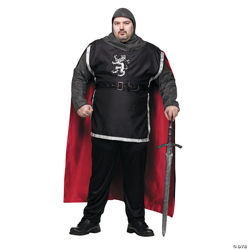 Men's Plus Size Medieval Knight Costume
