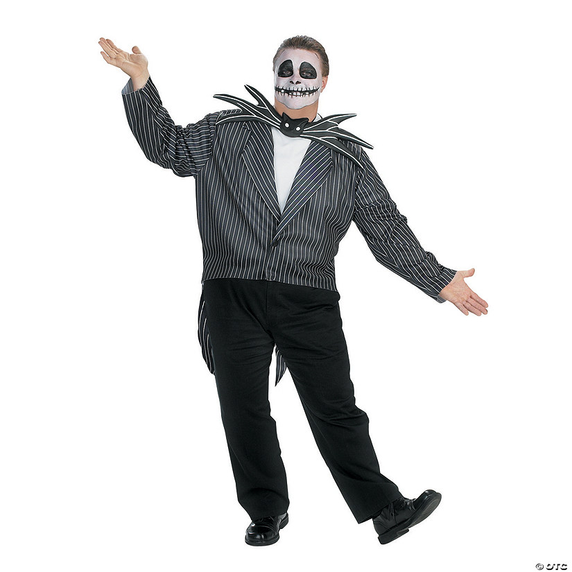Men's Plus Size Nightmare Before Christmas Jack Costume