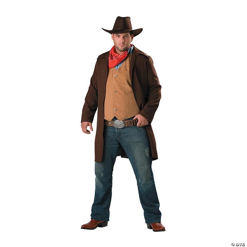 Men's Plus Size Rawhide Renegade Costume