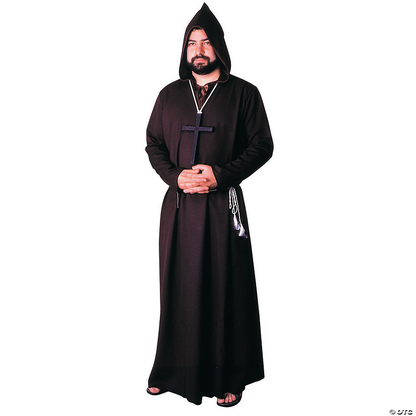 Men's Quality Brown Robe Monk Costume