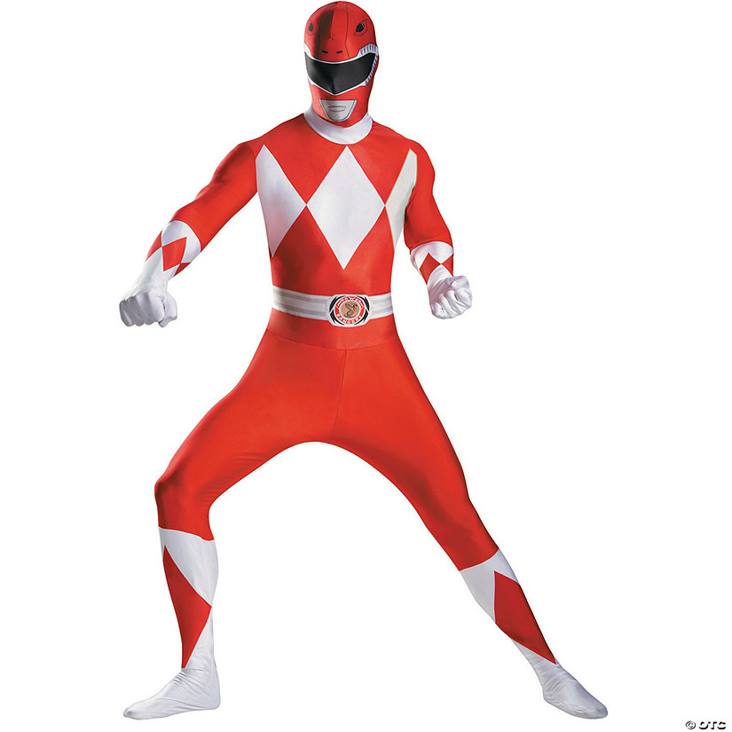 Men's Red Power Ranger Bodysuit Costume