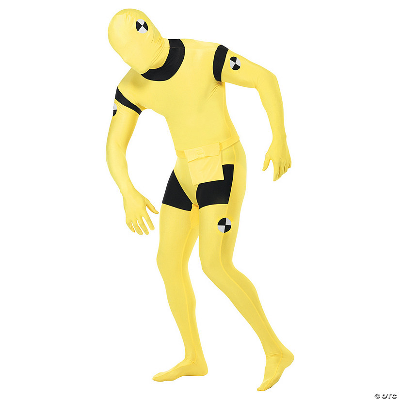 Men's Skin Suit Crash Dummy Costume