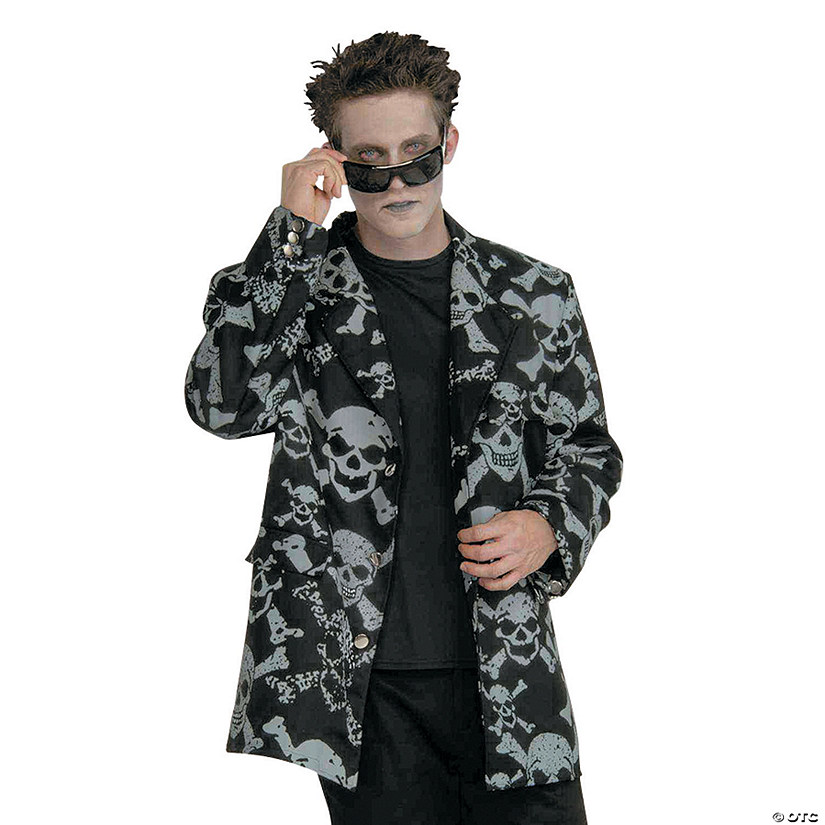 Men's Skull and Bones Sports Jacket Costume