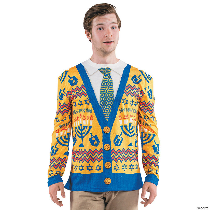 Men's Ugly Hanukkah Sweater T-Shirt Costume