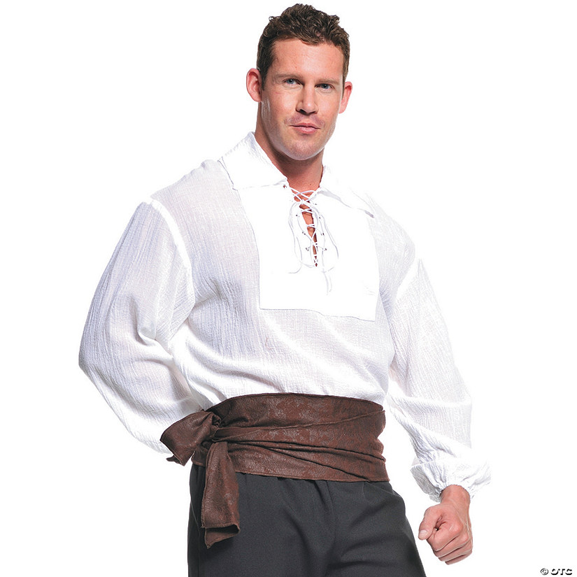Men's White Pirate Shirt Costume