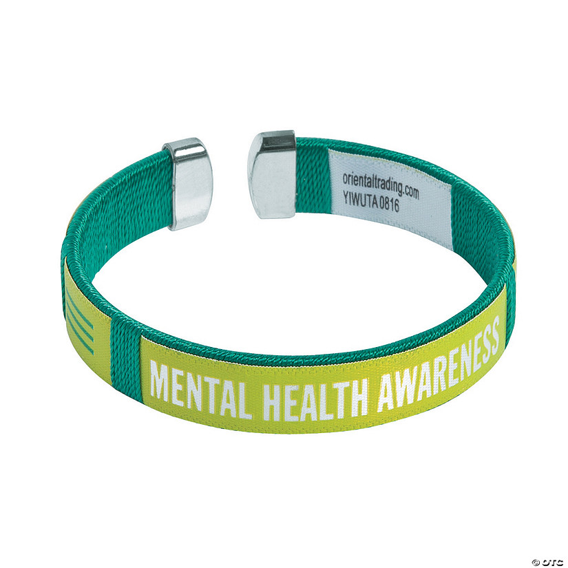 Mental Health Awareness Cuff Bracelets