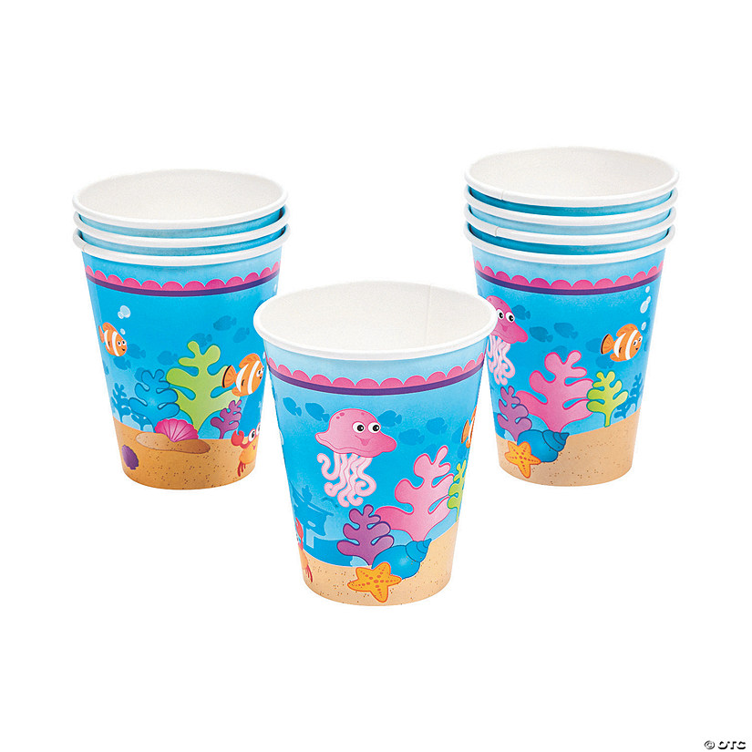 Mermaid Party Paper Cups