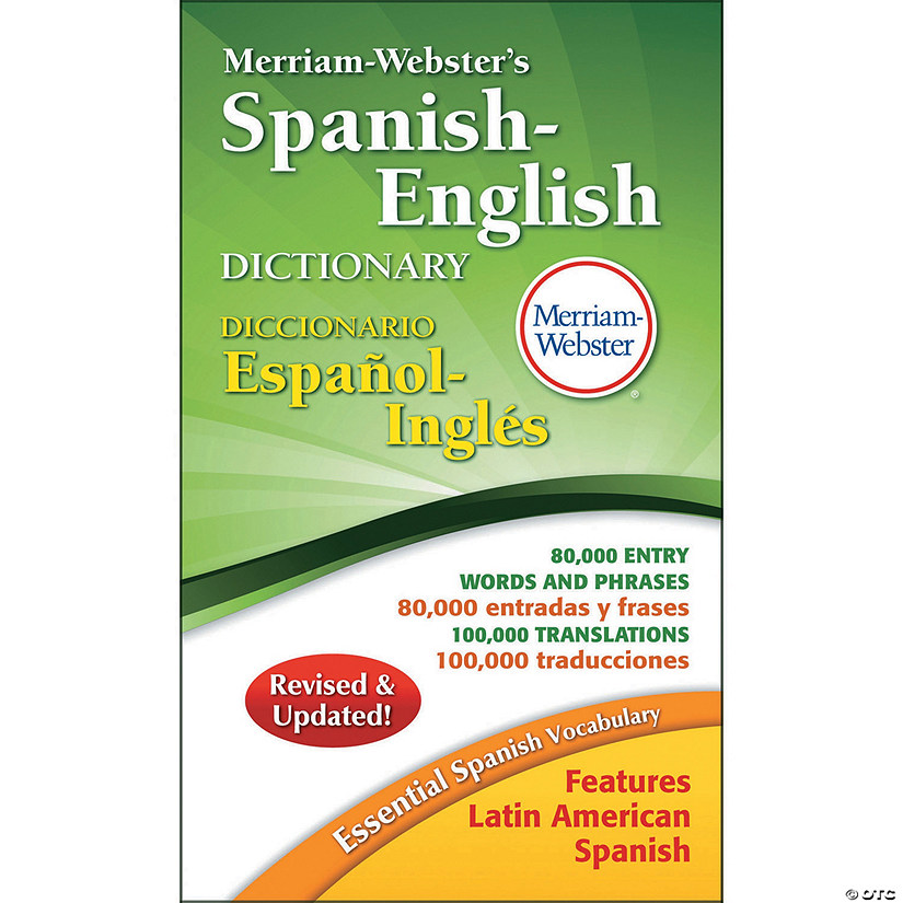 Merriam-Webster Spanish-English Dictionary Paperback, Pack of 3