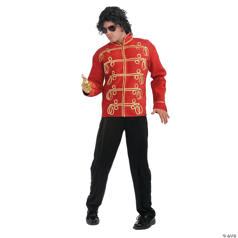 Michael Jackson Red Military Jacket Halloween Costume for Men