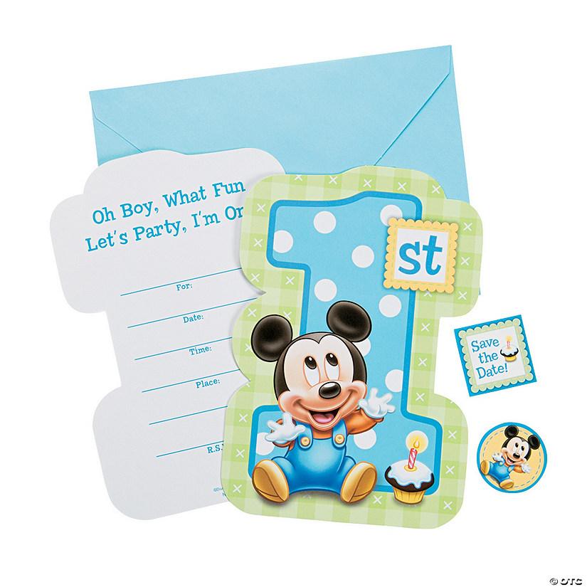 Mickeyu0026#8217;s 1st Birthday Invitations