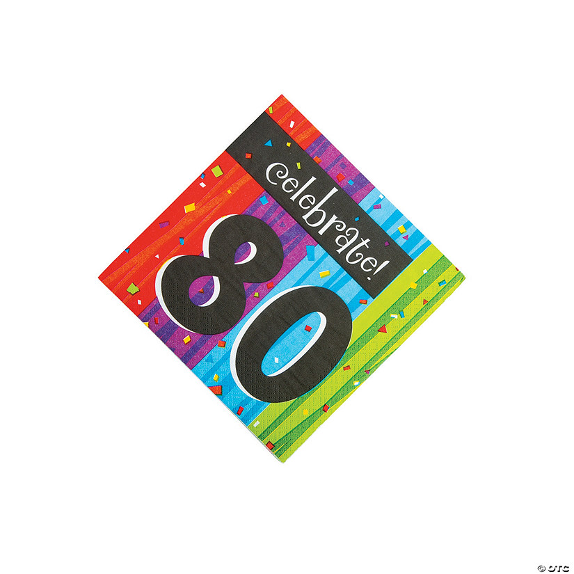 Milestone Celebration 80th Birthday Luncheon Napkins