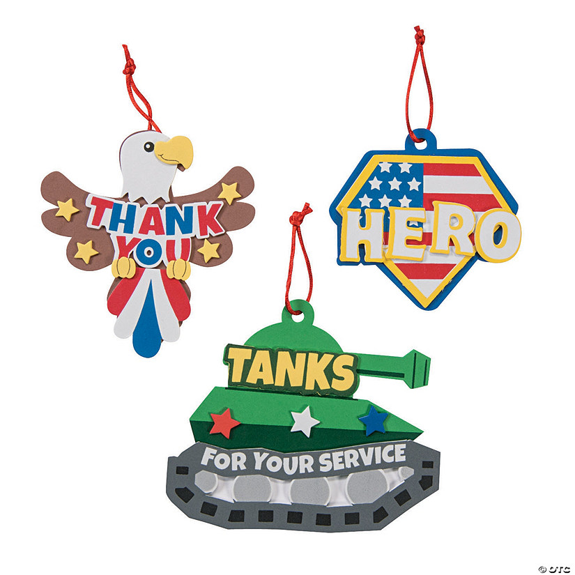 Military Service Foam Ornament Craft Kit
