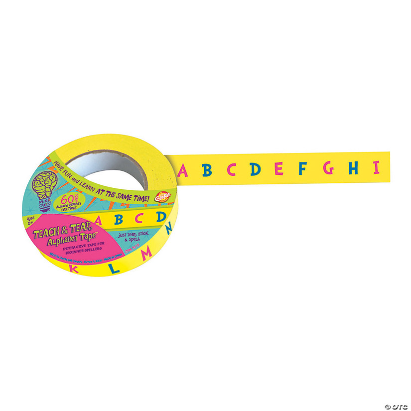 Mind Sparks™ Teach & Tear Tape™ - Alphabet