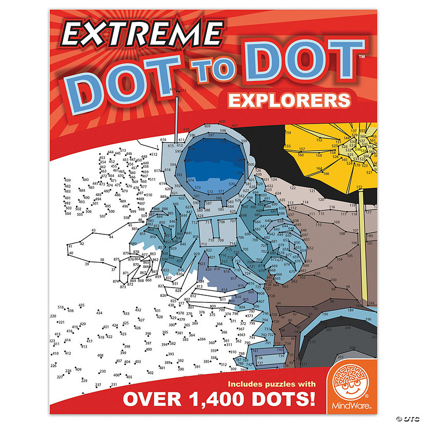 MindWare® Extreme Dot to Dot - Explorers Coloring Book